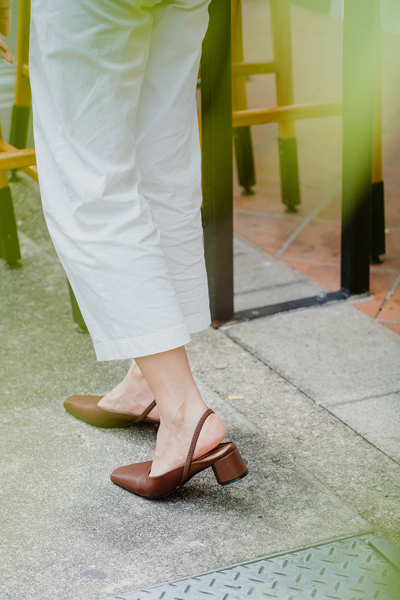 Leah Heels in Coffee