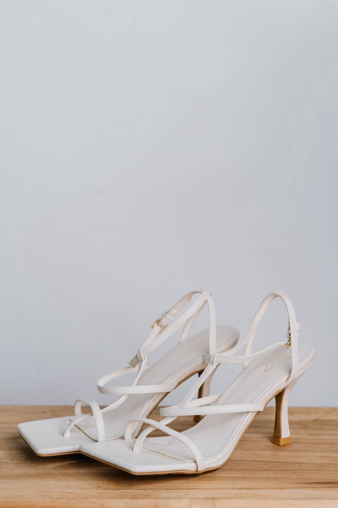 Load image into Gallery viewer, Sonia Strappy Heels in Cream