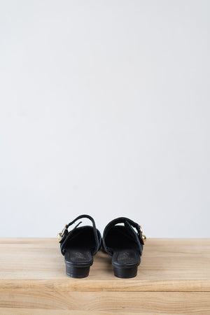Load image into Gallery viewer, Maeve Slip on Mules in Black