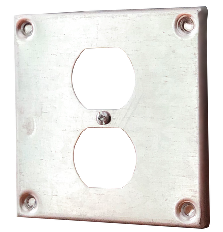 "Guardian Enclosures™ 4x4 Single Duplex Receptacle 3/8"" Raised Cover GD8365"