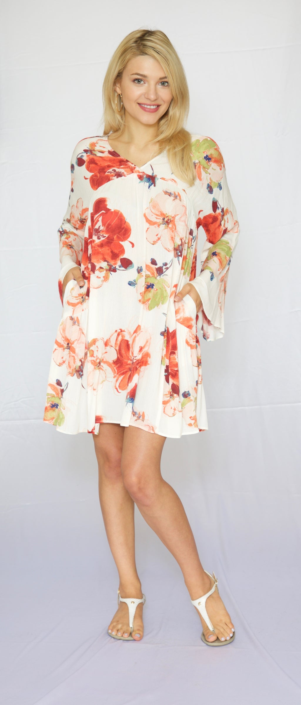 Trishia Grace-Larrabee Dress Orange Floral