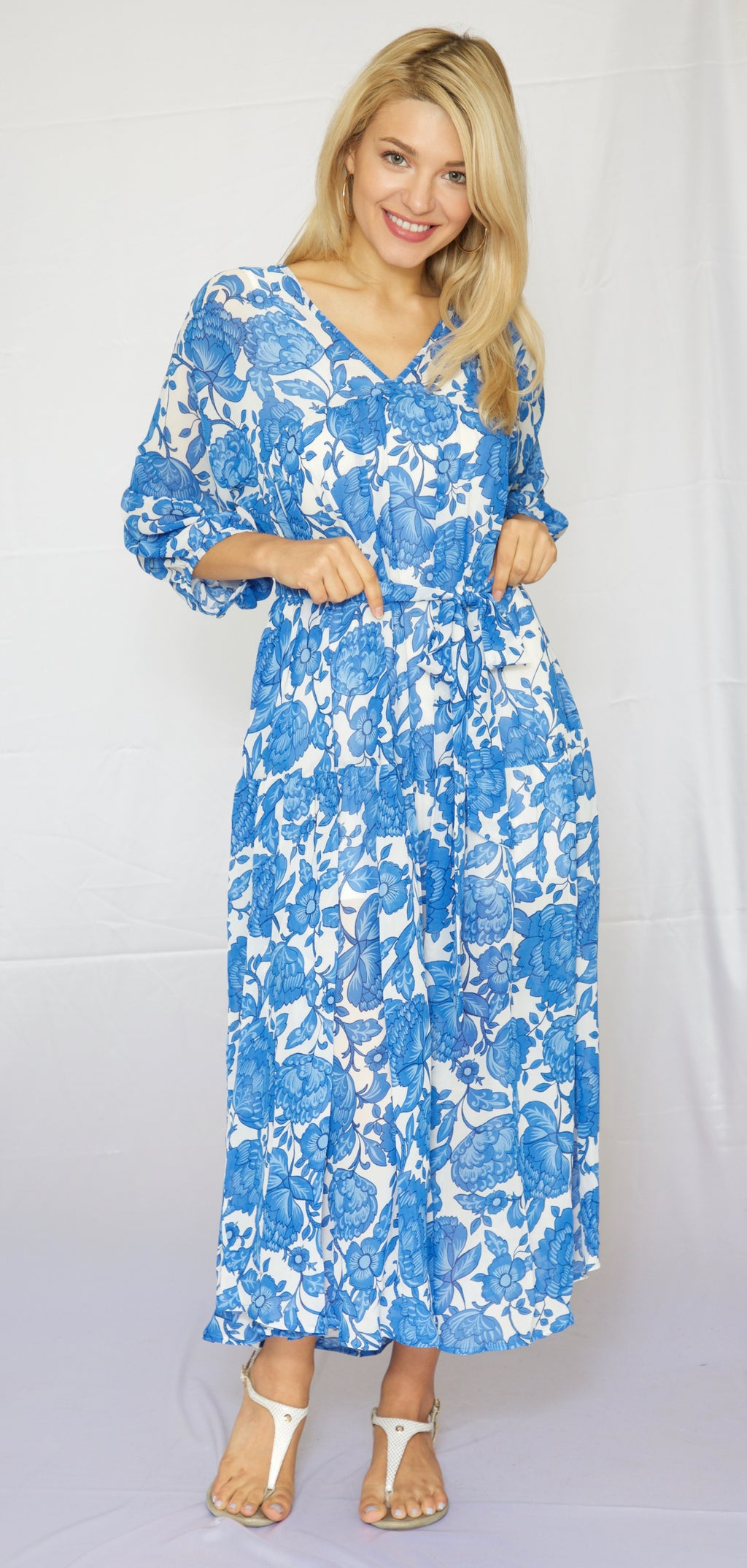 Trishia Grace - Trish Dress Blue China Floral