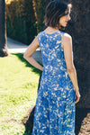 Trishia Grace - Harper Dress Blue China Floral Print