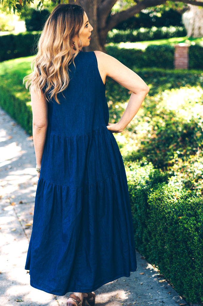 Trishia Grace - Harper Dress Chambray