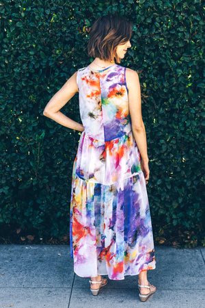 Trishia Grace - Harper Dress Watercolor Floral