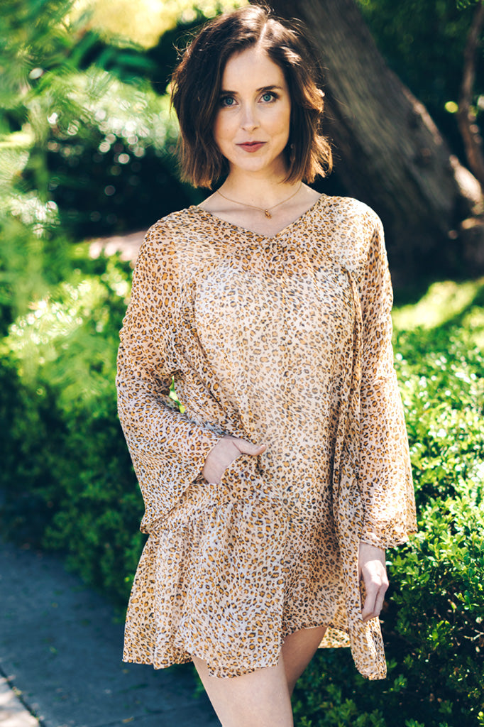 Trishia Grace - Larrabee Tunic Dress Leopard Print