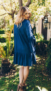 Trishia Grace - Larrabee Tunic Dress Garment Washed Chambray