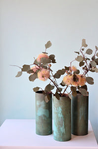 Verdigris Copper Vase 25x10cm by Greybox Design