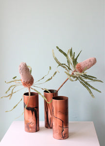 Abstract Brushed Copper Vase by Greybox Design