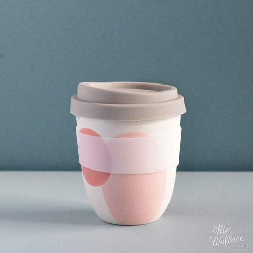 Reusable Takeaway Cup Blush Pink by Kim Wallace