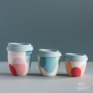 Reusable Takeaway Cup Rainbow by Kim Wallace