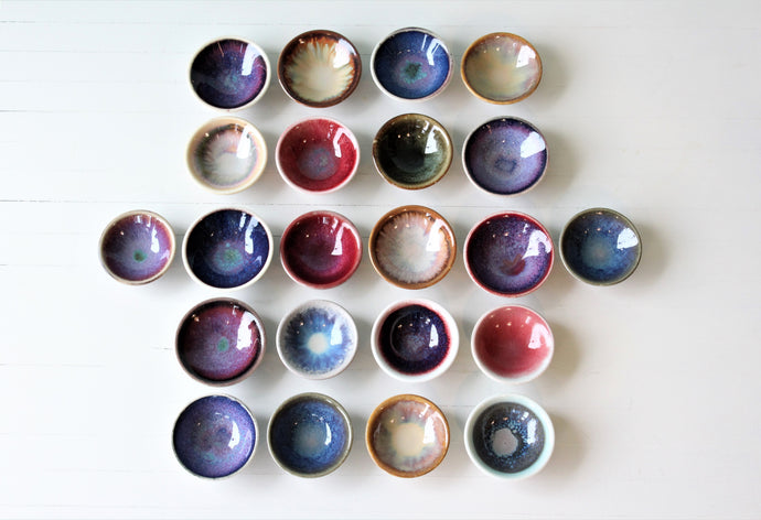 Small Salt Dish Assorted Glazes (Nikki Dowdell)