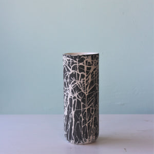 Kristina Cooke midnight squiggle vase