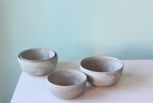 Lk Ceramic breakfast bowl light grey.