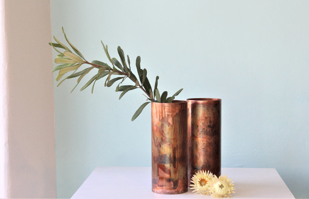 Speckled Copper Vase (Greybox Design)