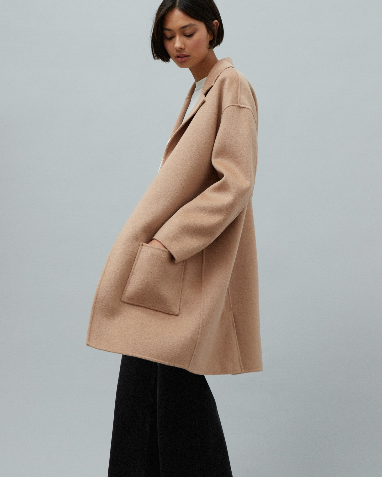 PRE ORDER Single Breasted Wool Coat