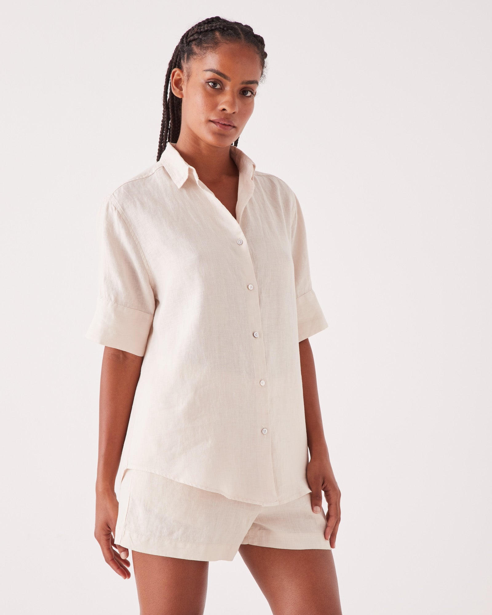 Short Sleeve Shirt Ivory