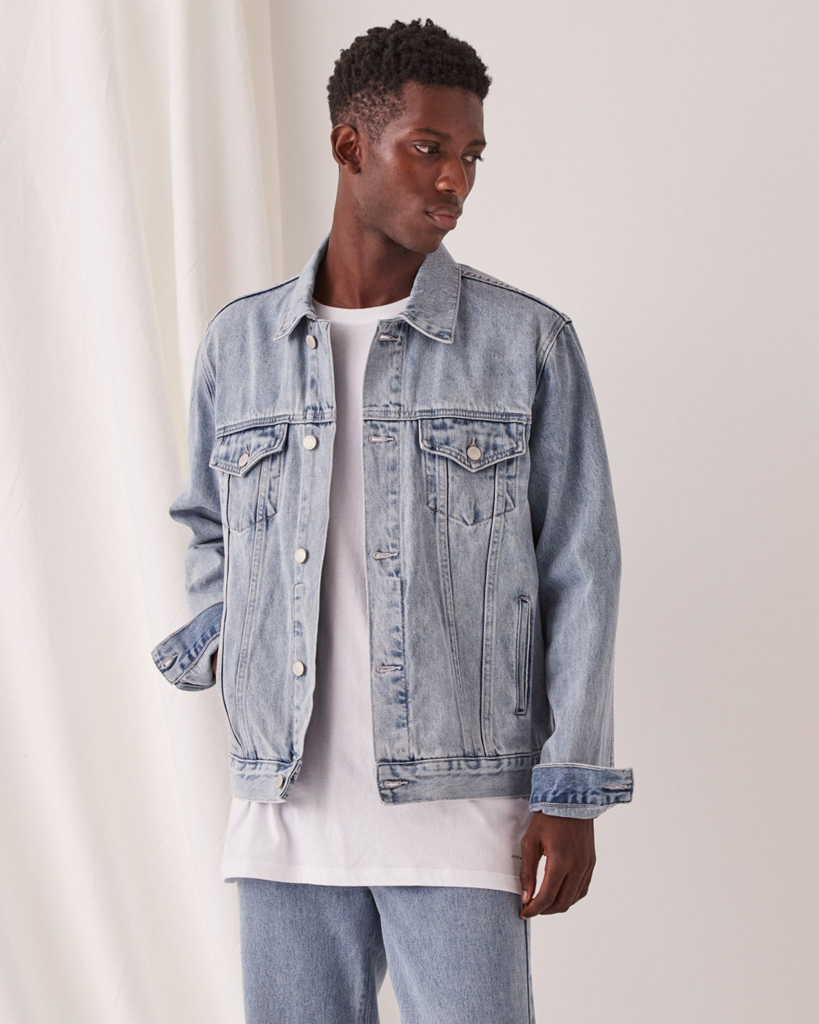 Renton Denim Jacket Stone Blue