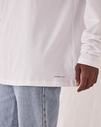 Distant Long Sleeve Tee White