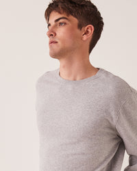 Basic Crew Pullover Grey Marle