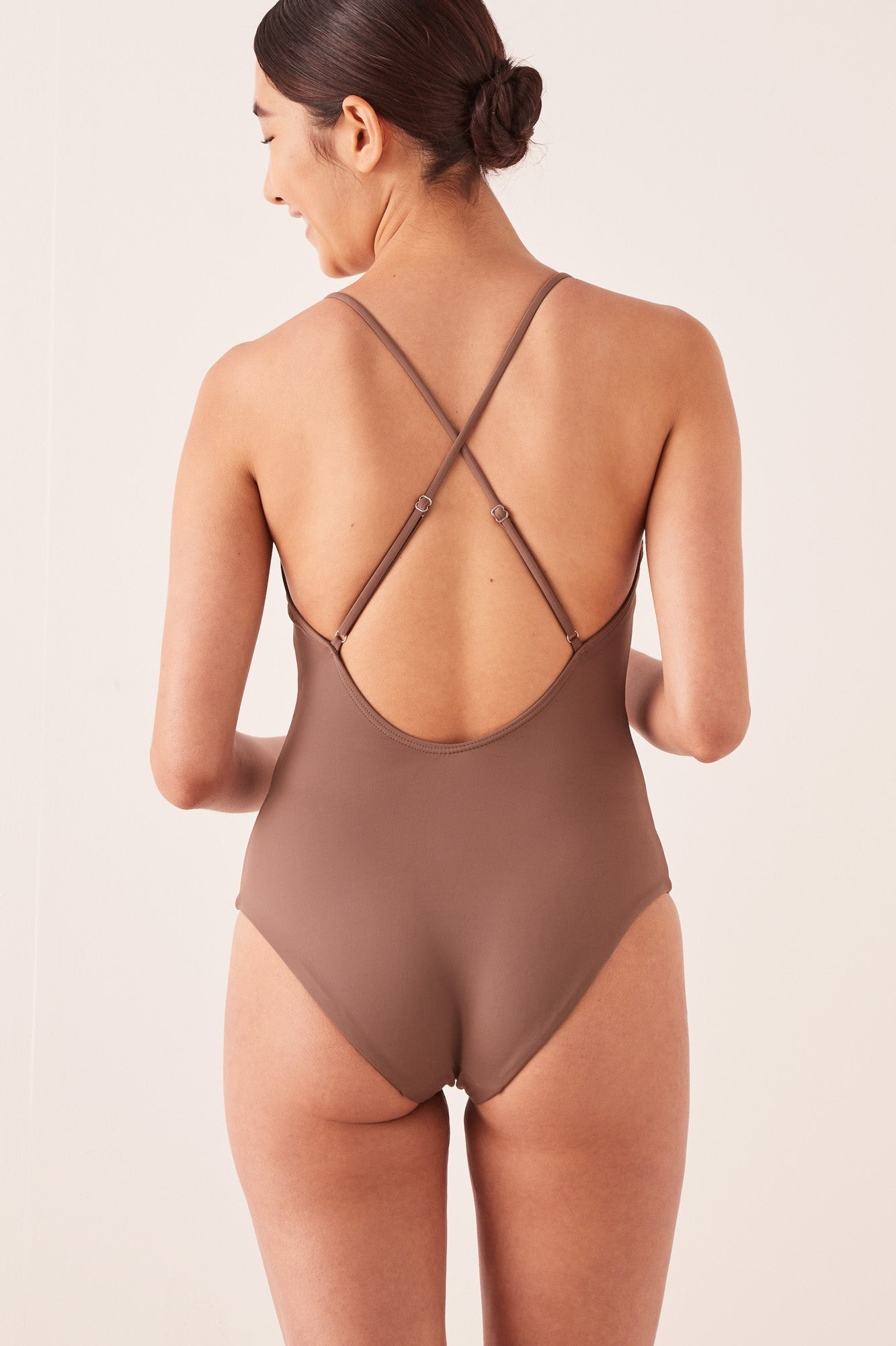 Low Back Swimsuit Sable