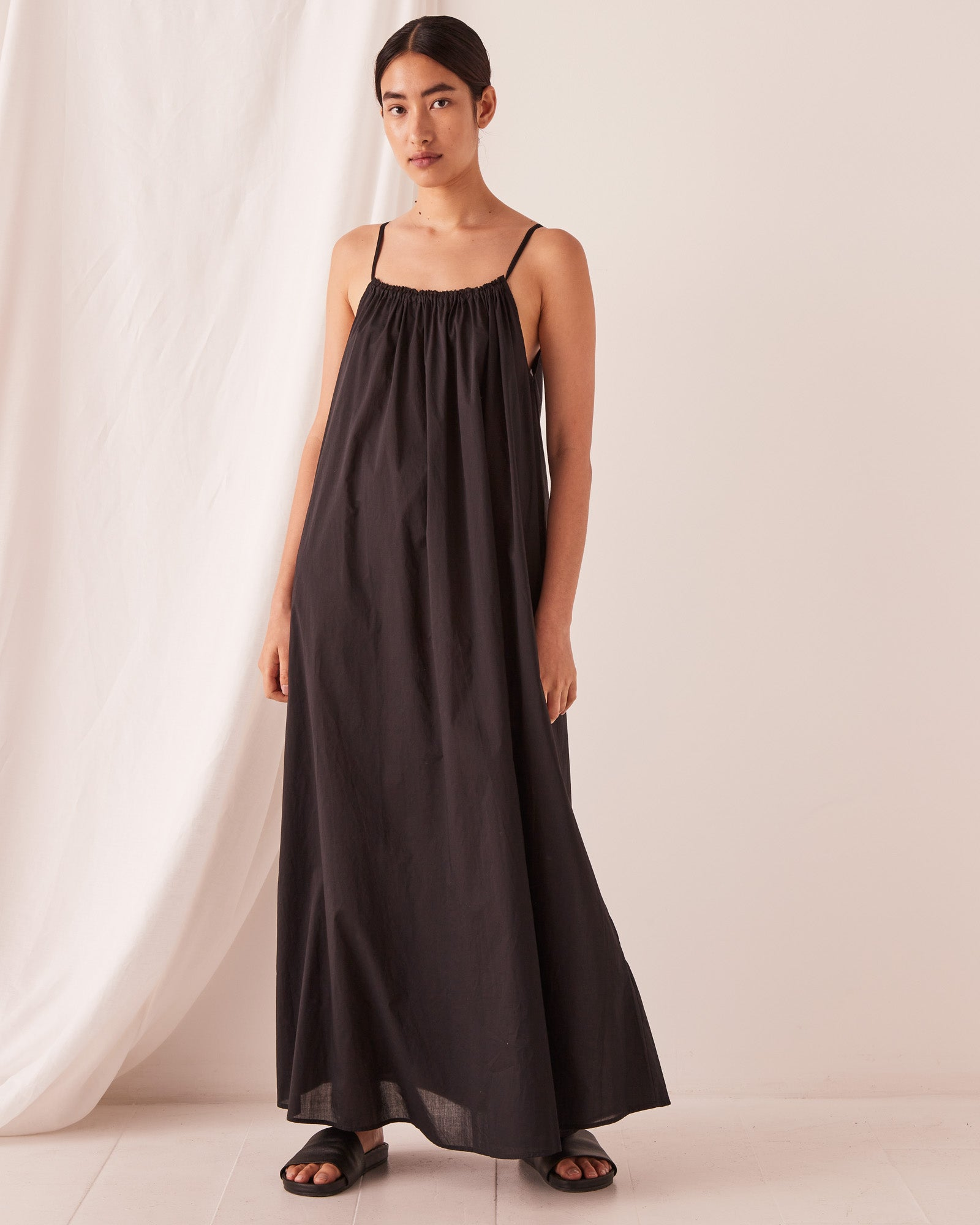 Voile Maxi Dress Black