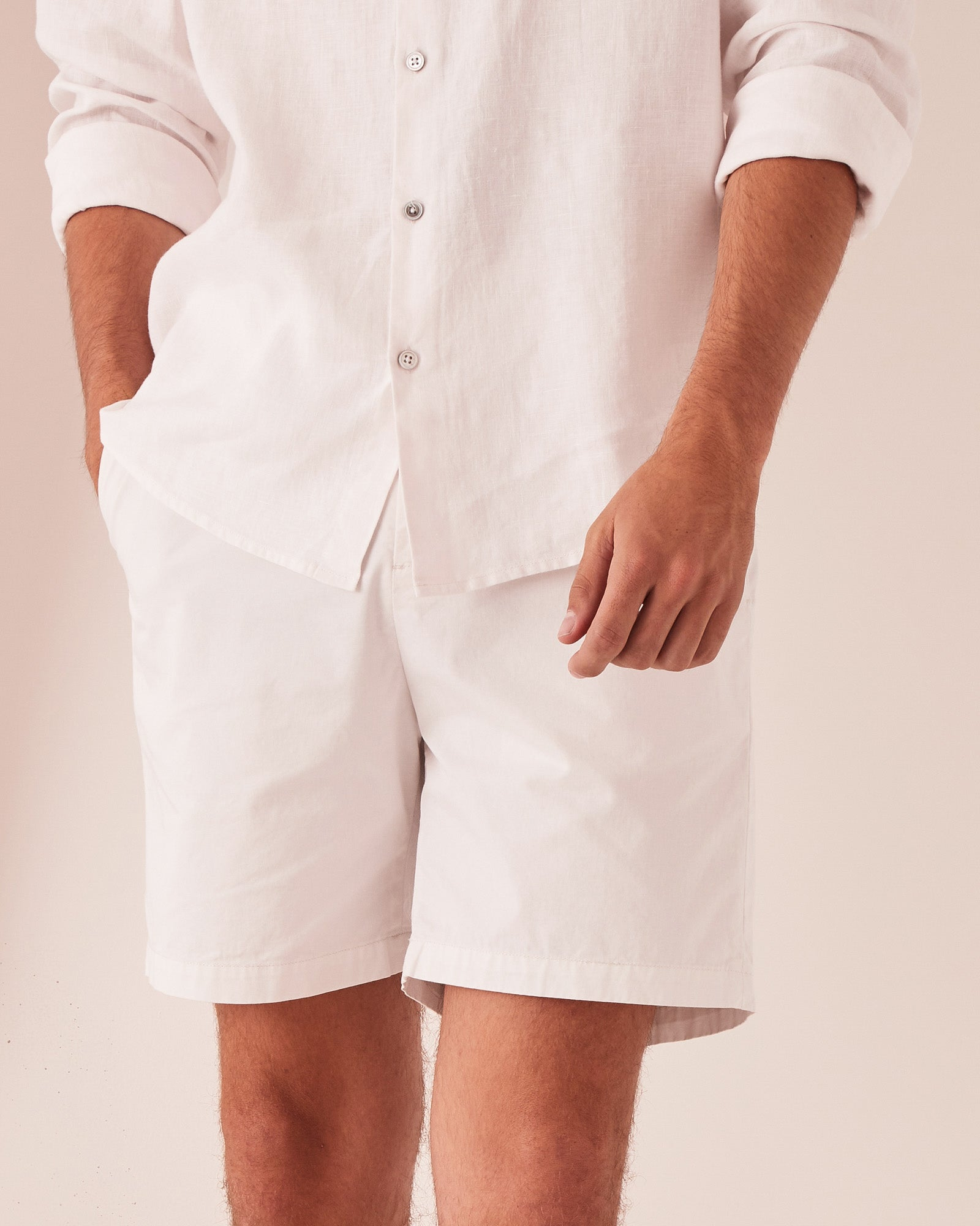 The Chino Short Silver Grey