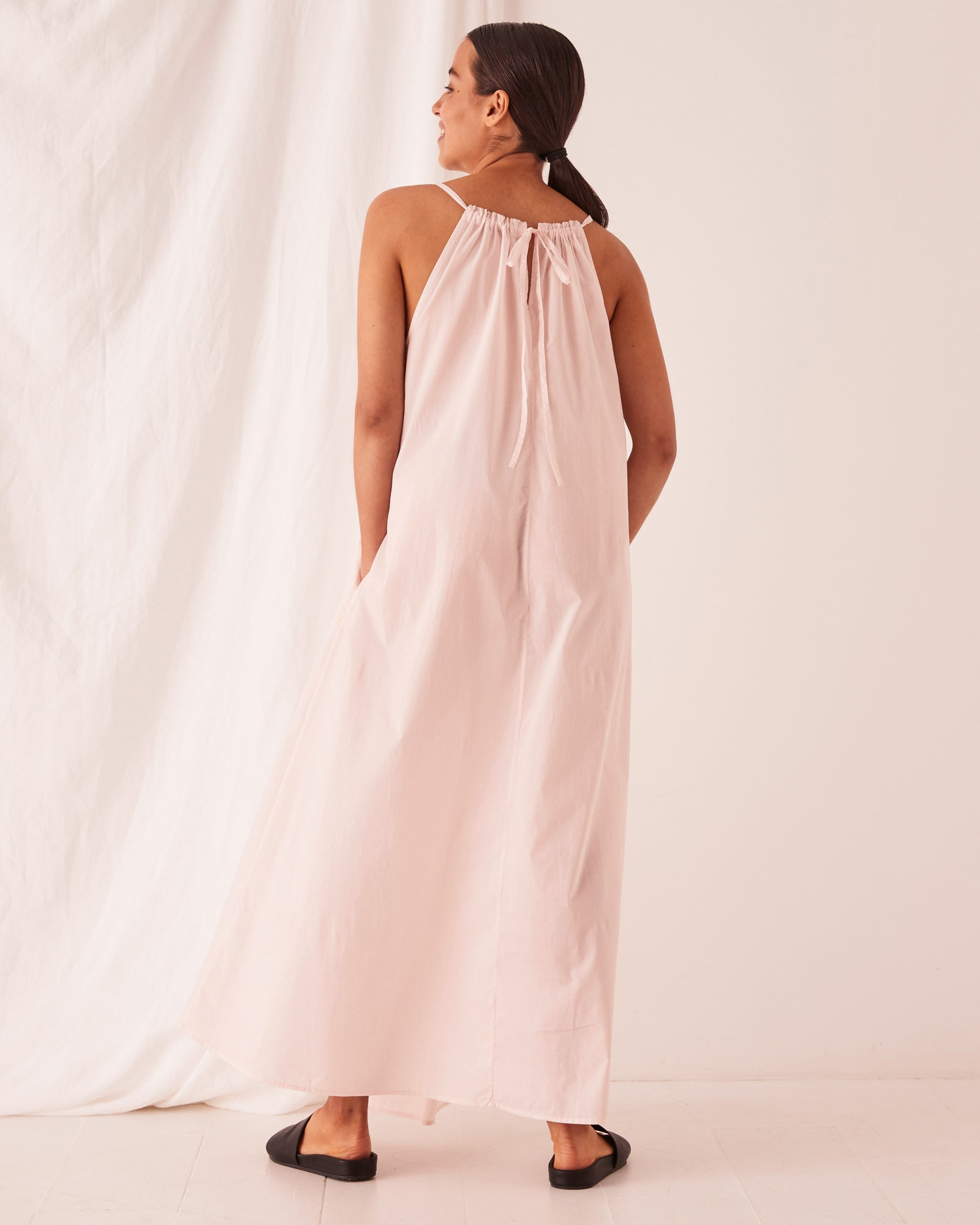 Voile Maxi Dress Pink Dew