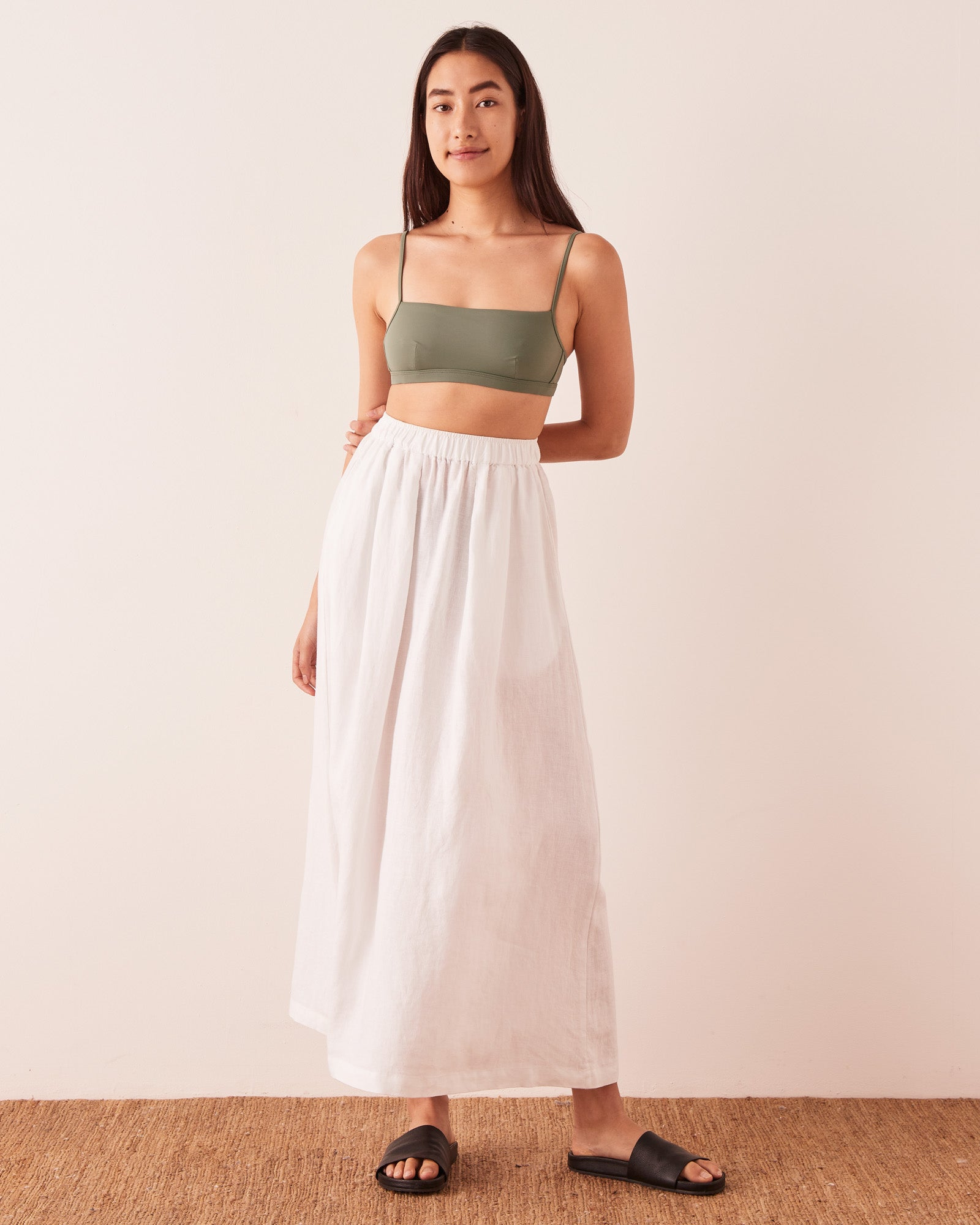 Bandeau Bind Top Soft Green
