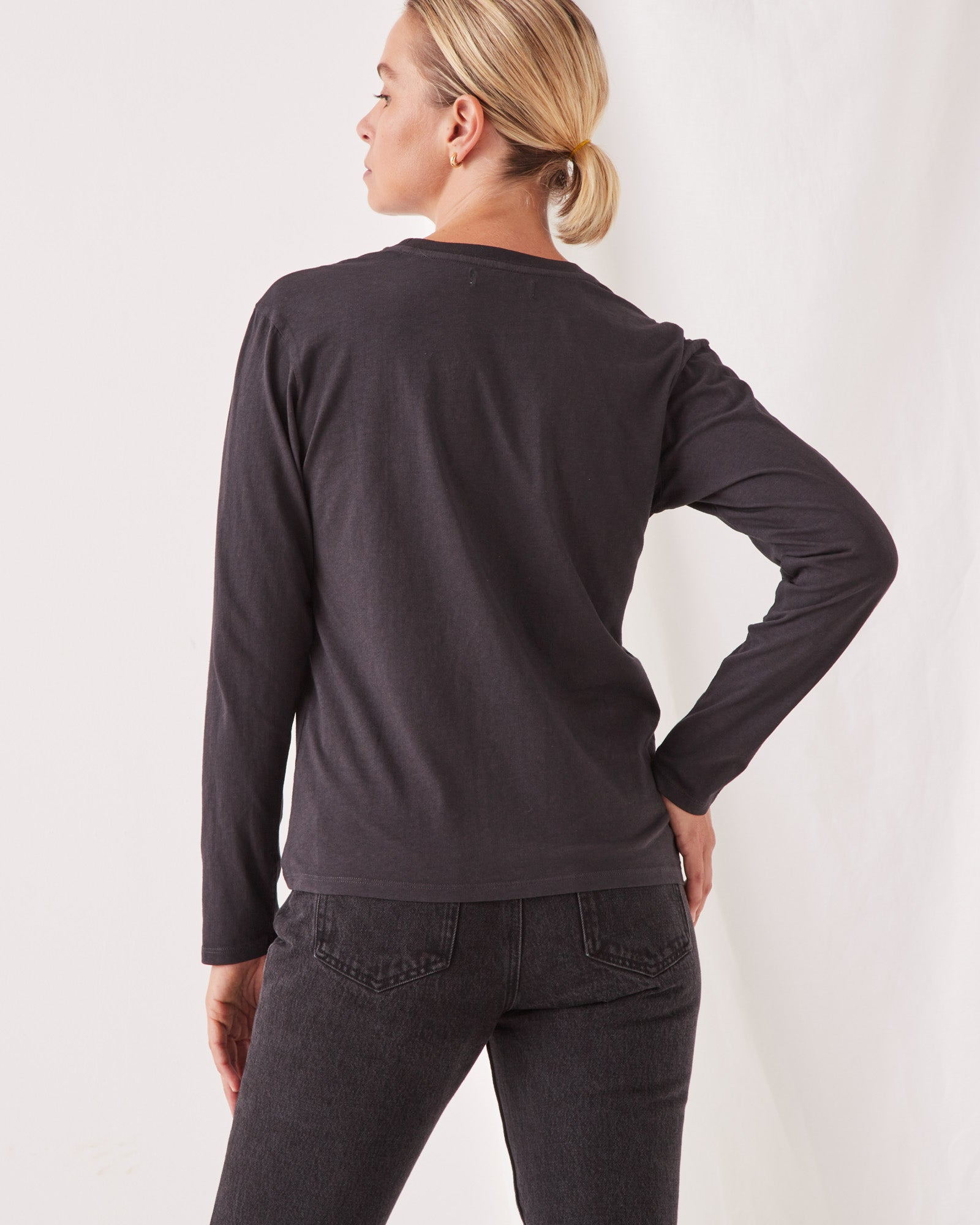 High Neck Long Sleeve Tee