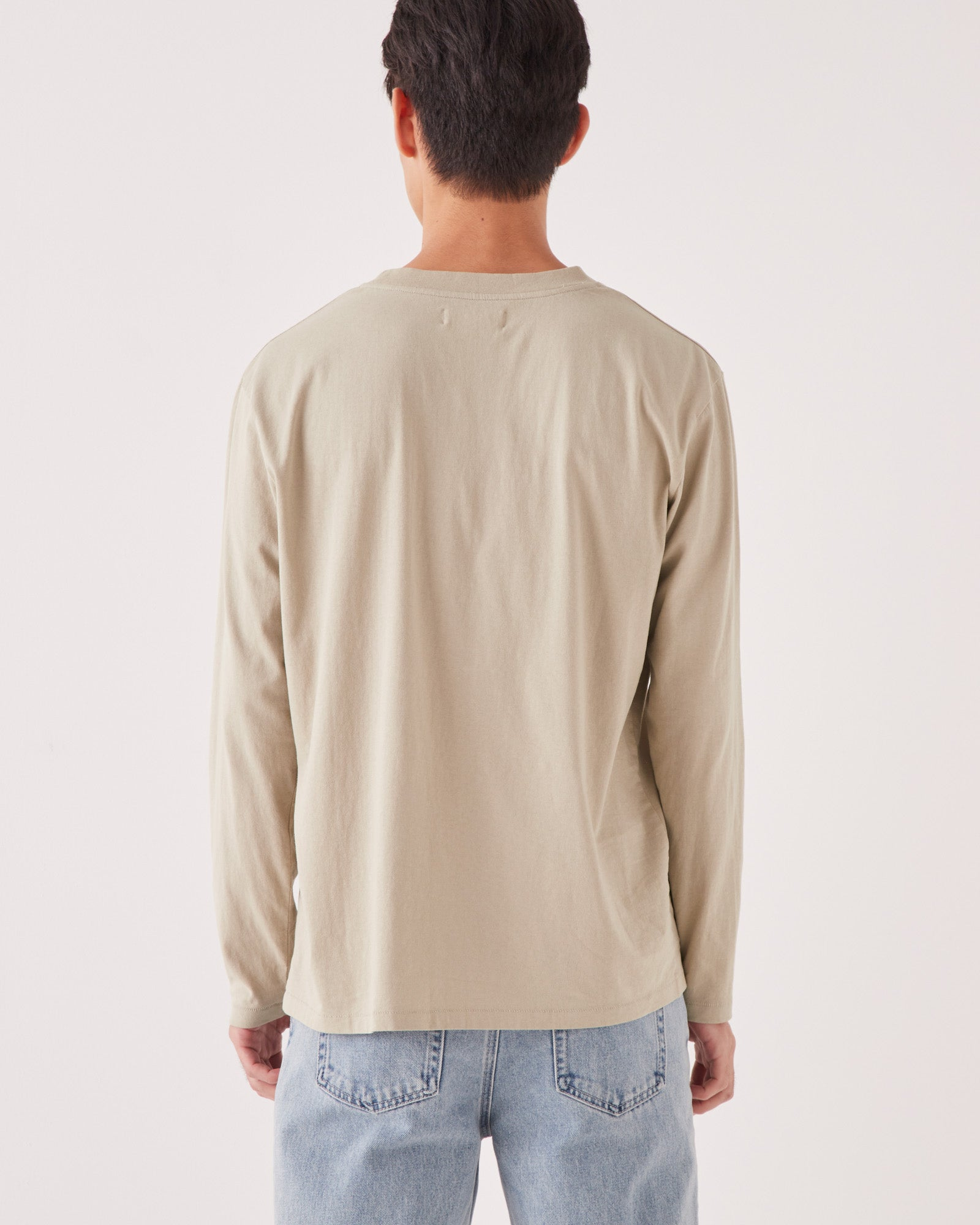 Reuben Long Sleeve Tee Washed Khaki