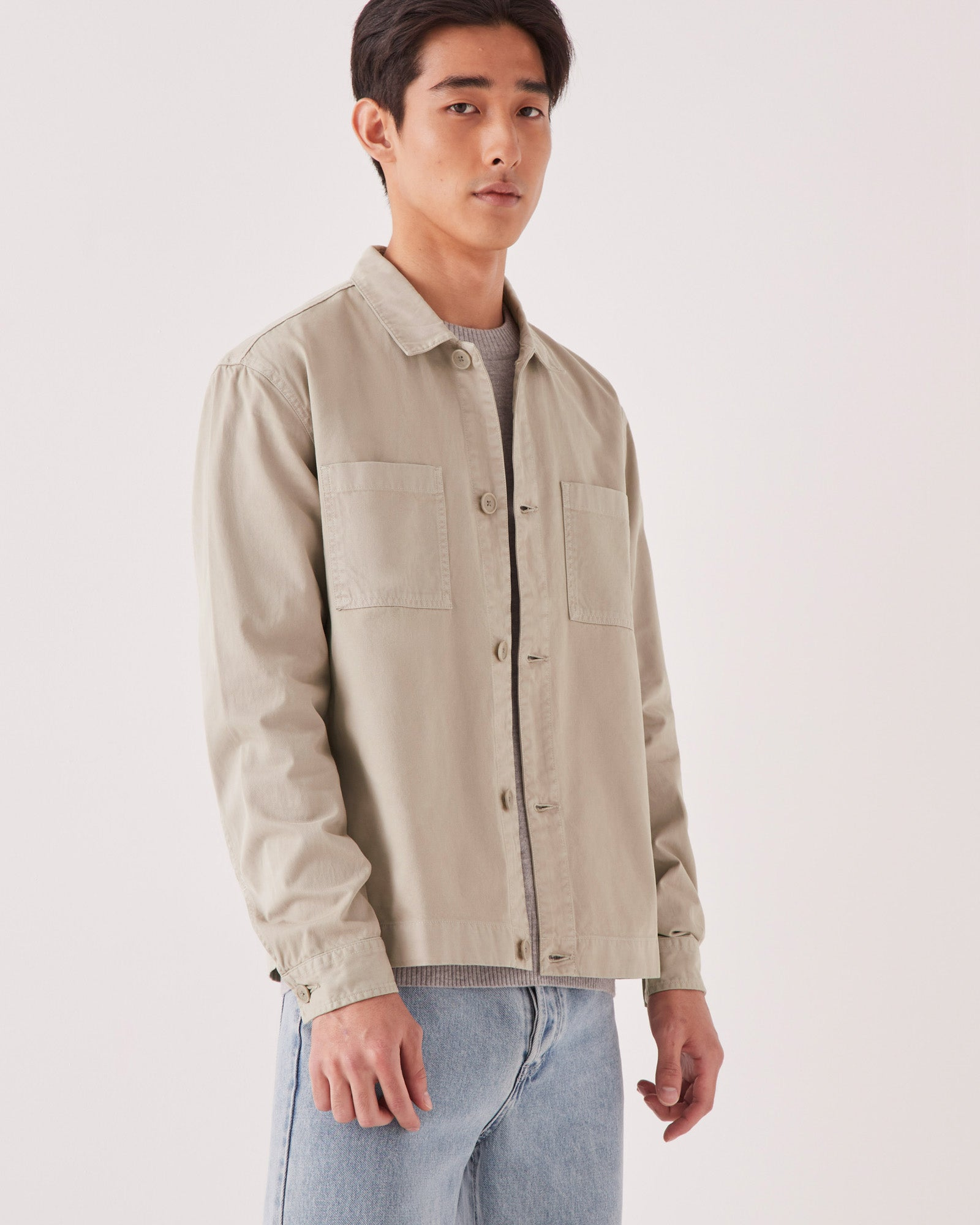 Hawke Jacket Washed Khaki