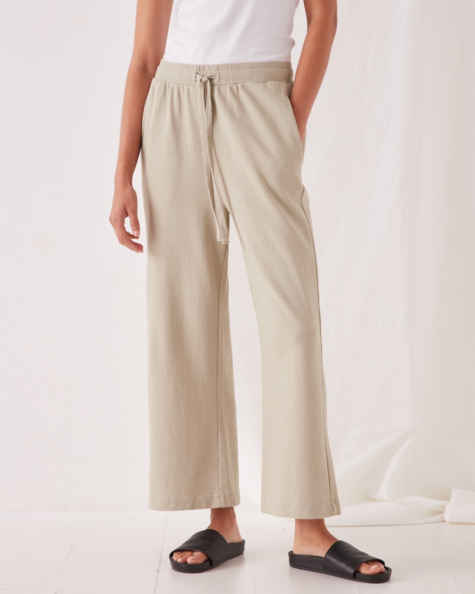 Lahni Wide Pant Washed Khaki
