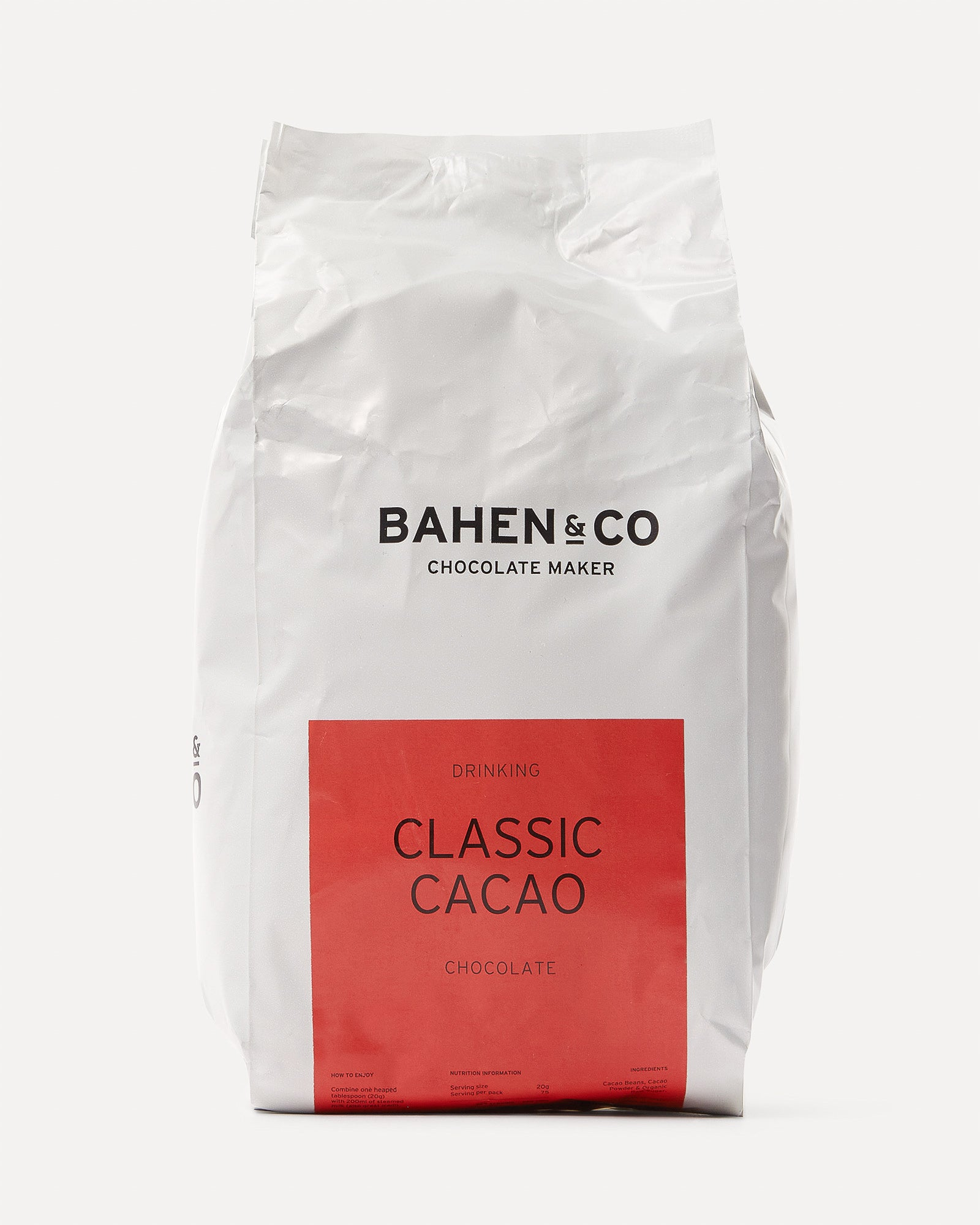 Bahen & Co Drinking Chocolate Classic Cacao