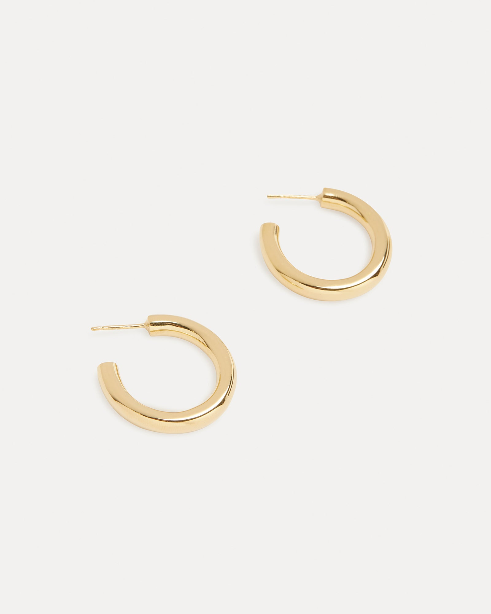 Gold Mini Tube Hoop Earrings Holly Ryan