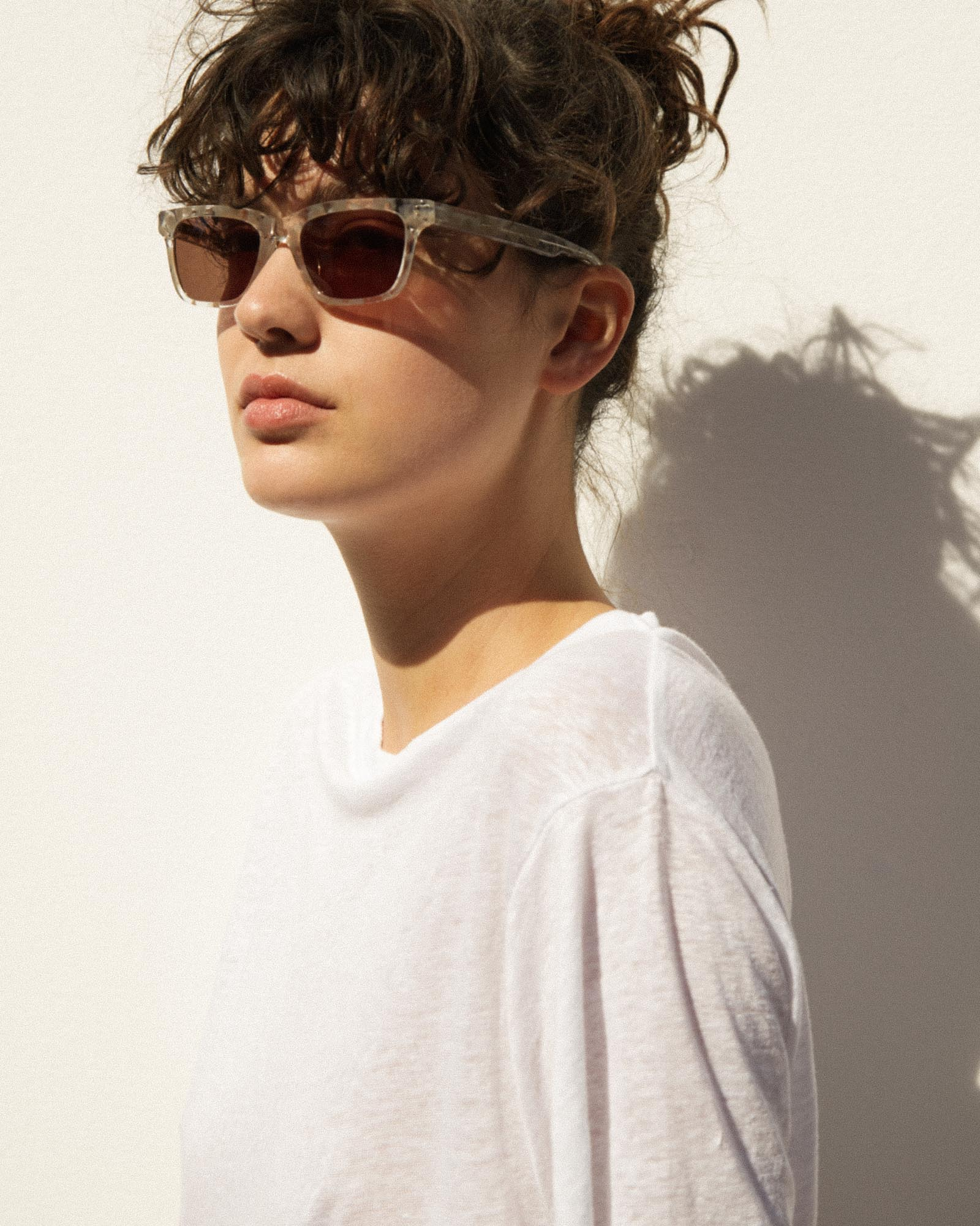 Frame 03 Sunglasses Chalk Marble