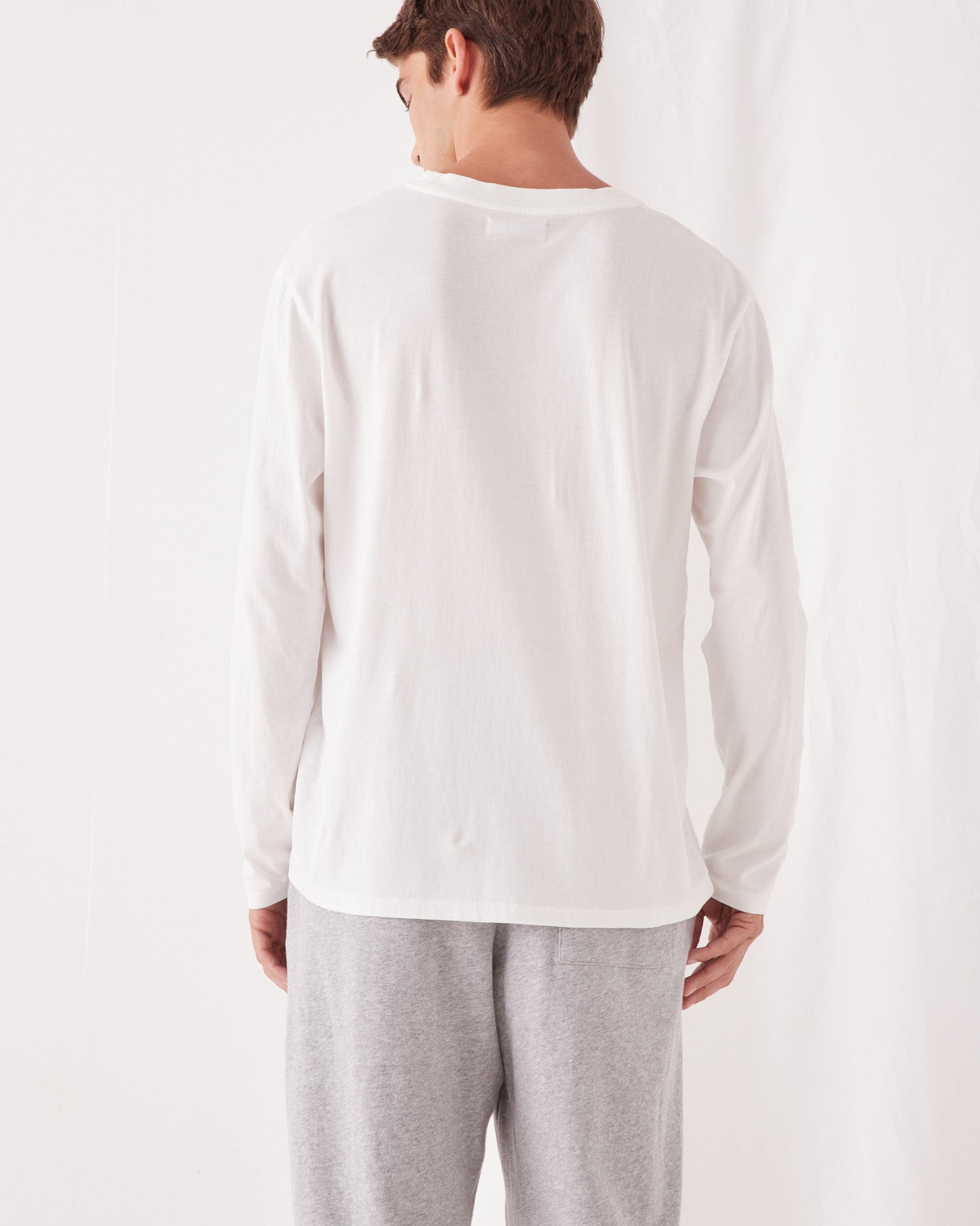 Reuben Long Sleeve Tee Antique White