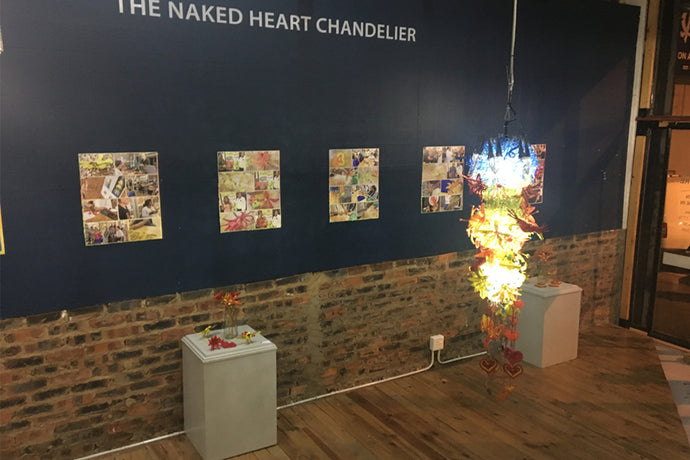 Exhbition Opening: The Naked Heart Chandelier
