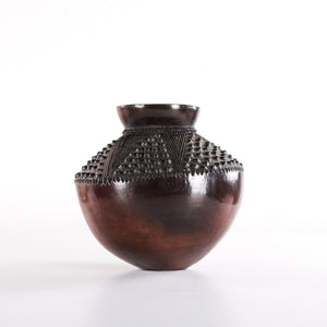 Uphiso Clay Pot with Zig Zag Designs