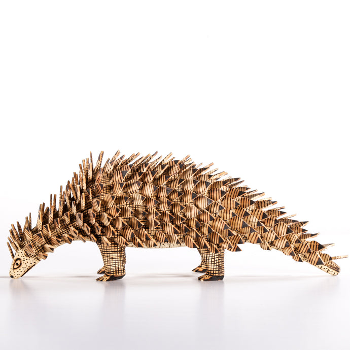 Small Wooden Hedgehog with Spikes