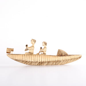 Two Figures on a Row Boat