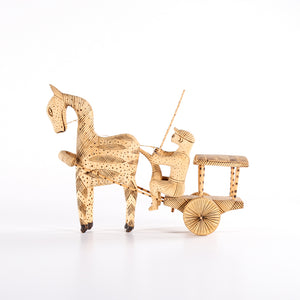 Wooden Man on a Horse with a Carriage