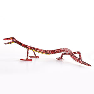 Long and Thin Wooden Lizard