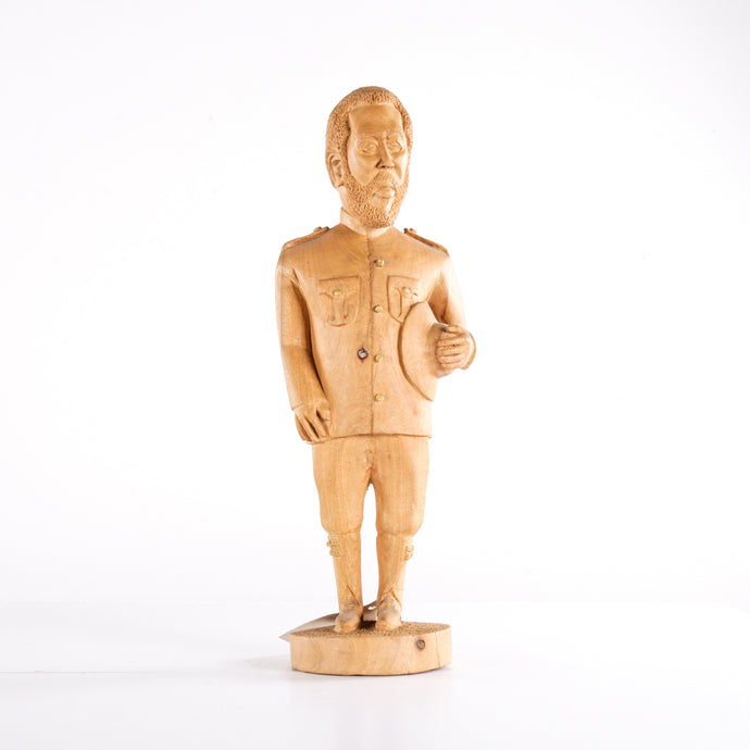 Diplomatic wooden figure with hat