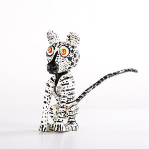 Stripped Detailed Wooden Animal and Black Tail