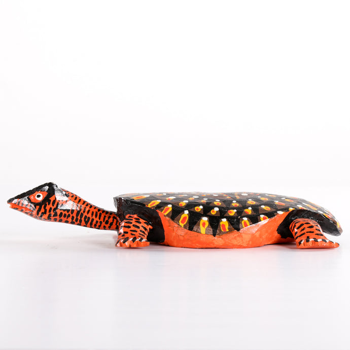 Wooden Turtle with Black Star on the Shell