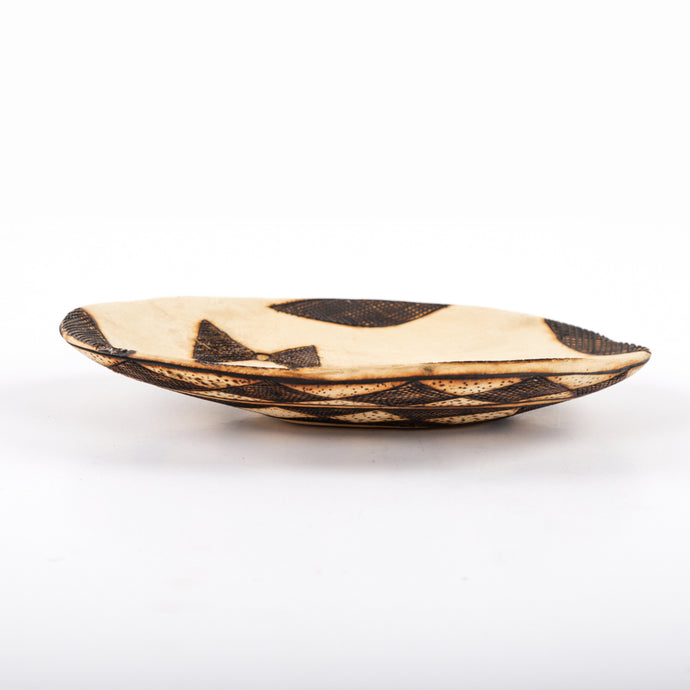 Oval Burnt Wood Long Platter