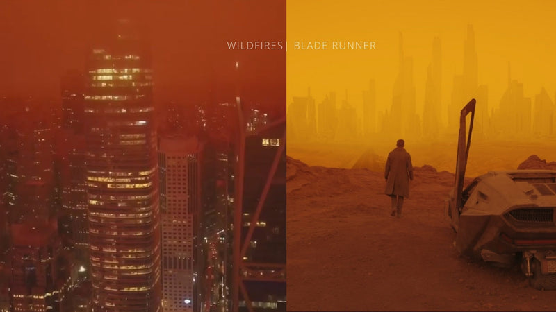 Breathtaking Drone Video: San Francisco Wildfires - Blade Runner 2049 Ambiance