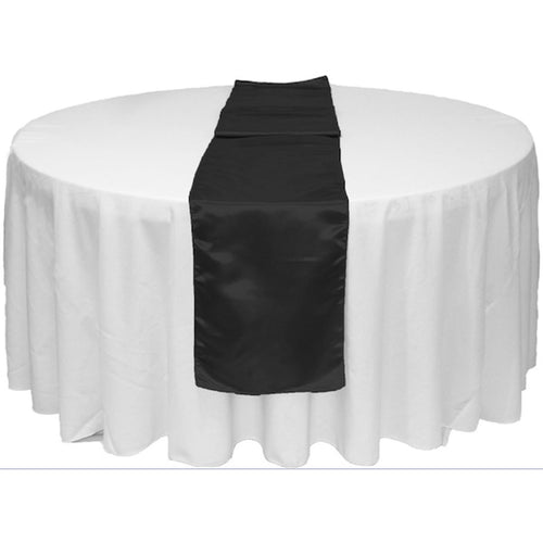 Black Satin Table Runner 12