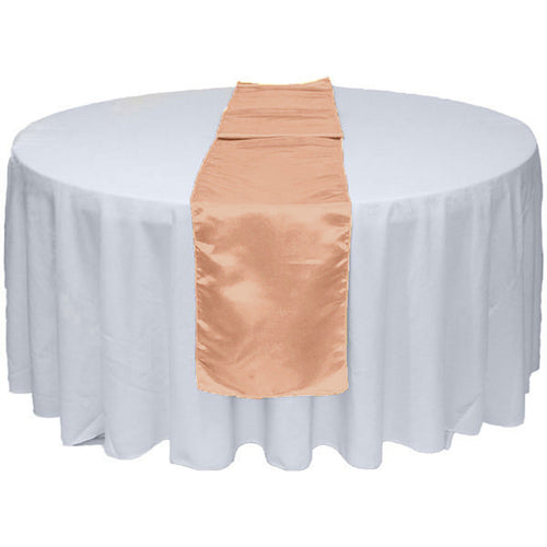 Blush Pink Satin Table Runner 12